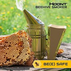 BEEKEEPING BEE SMOKER - Bee smokers are an amazing beekeeping equipment that helps calm the bees and protect the beekeeper from stings while performing bee hive maintenance and work. Have bees in your yard? Use this smoker to inspect the bee hive from up close, without the need to be afraid of bee stings. QUALITY CONSTRUCTION - Made with heavy duty stainless steel. Superior bellow makes smoking up super-easy and fast. Features a metal hook so that the device can be hung on the hive box…