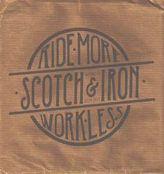 New Design work.  Scotch and Iron