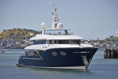 """Alloy Yachts launched the 44.1m motor yacht """"Hey Jude"""". Read more: http://www.yachtemoceans.com/alloy-yachts-44m-hey-jude/ #yacht #jacht #superyacht #megayacht #luxuryyacht"""