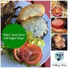 bacon green chili burger