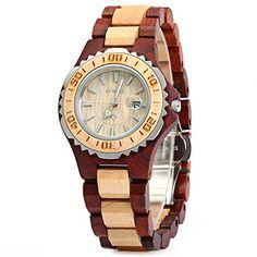Bewell ZS-100BL Womens Wooden Luminous Hands Quartz Watch – Wooden Watches Store