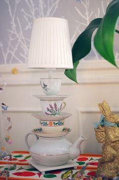 Teapot lamp!