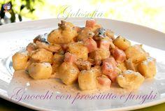 Gnocchi con prosciutto e funghi-ricetta primi piatti-golosofia