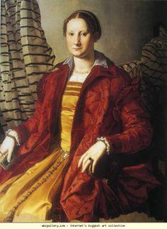 Agnolo Bronzino. Portrait of Lady. c.1550-55. Oil on panel. 109 x 85 cm. Savoy Gallery, Turin, Italy.