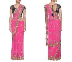 Bridal Net Sarees with Stone Work, Net Sarees With Stone Work, Designer Net Sarees with Stone Work.