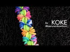 NEW Double Origami Rainbow Loom Bracelet Tutorial (Original Design) Rainbow Loom Bracelets Easy, Loom Band Bracelets, Rainbow Loom Tutorials, Rainbow Loom Patterns, Rainbow Loom Creations, Rainbow Loom Bands, Rainbow Loom Charms, Rubber Band Bracelet, Macrame Bracelets