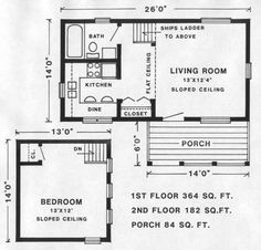 SKAGWAY plan ~ widen to 20' as I need a bigger kitchen and some sewing space. Otherwise love the plan!