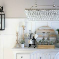 MAKING IT IN THE MOUNTAINS Mason Jar Christmas Decorations, Christmas Mason Jars, Winter Quotes, Chalkboard, Chandelier, Ceiling Lights, Mountains, Kitchen, Home Decor