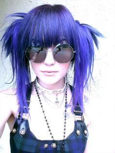 Leda Muir. #LedaMonsterBunny #blue #dyed #scene #hair #pretty