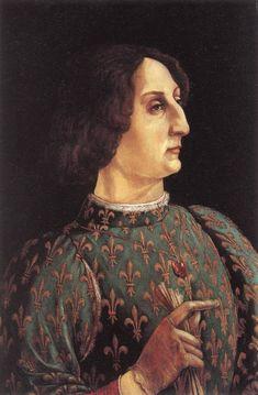 Piero Benci detto Pollaiolo, Ritratto di Galeazzo Maria Sforza, 1471, tempera su tavola, Uffiizi Firenze