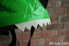 duct tape dinosaur bike helmet with glow in the dark teeth Dirt Bike Wedding, Car Bike Rack, Bike Photoshoot, Bike Illustration, Bike Wheel, Bike Design, Duct Tape, Diy For Kids, Bicycle