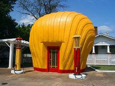 15 Strange Places in NC - Last Shell Oil Clamshell Station (Winston Salem)