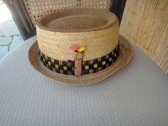 Vintage Golf straw hat by Vento USA by MilliesAttique on Etsy