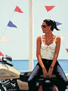 jack vettriano paintings | La fille a la moto by Jack Vettriano