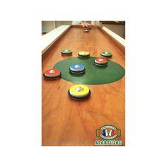 Curling pions boules double - Jeu géant bois - Alortujou Shuffleboard Games, Curling, Poker Table, Home Decor, Giant Games, Decoration Home, Room Decor, Home Interior Design, Home Decoration