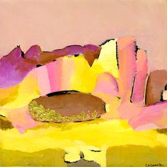 Bright Colorful Pastel Desert Southwest Landscape Matte Giclee Art Print 12 x 12 - By: China Carnella Fine Art