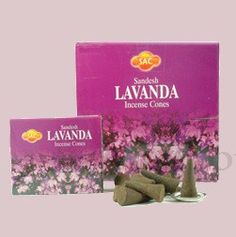 Lavender Incense Hand rolled Lavender Incense Cones by the Sandesh Agarbathi Conpany in India. Their incense consists mainly of natural forest products and natural oils (approximately The result is that this incense is environmently friendly