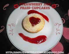 Anything with strawberries sounds good to me!   Strawberry Jam Filled Cupcakes
