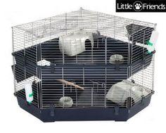 Indoor Double Corner Cage - Rabbit & Guinea Pig Cage: Amazon.co.uk: Pet Supplies
