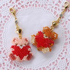 Peyote Stitch Patterns, Bead Loom Patterns, Beading Patterns, Bead Embroidery Jewelry, Beaded Bracelet Patterns, Beaded Embroidery, Beaded Skull, Valentines Jewelry, Beaded Animals