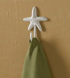 Tropical Beach Themed Iron Starfish Bathroom Accessories Towel Bar Hook  Ring Toilet Tissue Holder