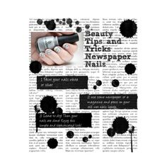 Beauty Tips and Tricks: Newspaper nails