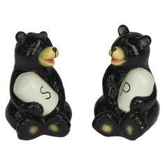 Black Bears Salt & Pepper Shakers