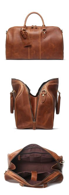 aee8db9bd3c Handmade Vintage Grain Leather Overnight Duffel Bag Travel Bag Holdall Luggage  Bag Duffle Bag Travel,