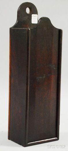 Oak Slide-lid Hanging Candle Box, rectangular box,