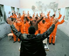 Sunday Church Service, Beaufort West Prison, 2006 © Courtesy of Mikhael Subotzky and Goodman Gallery, South Africa Documentary Photography, Photography Tips, Johannesburg Art Gallery, Beaufort West, La Villette Paris, Prison Life, Photographer Portfolio, Victoria And Albert, Magnum Photos