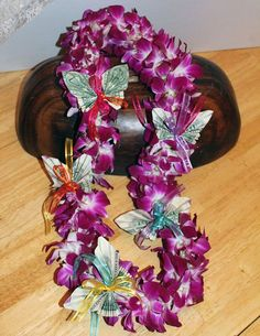 Graduation Flowers Leis with Money Butterfly