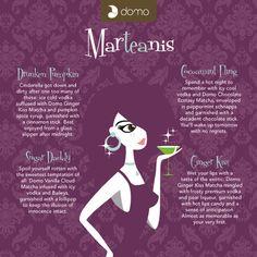 Canadian company stone ground tea martini recipe card