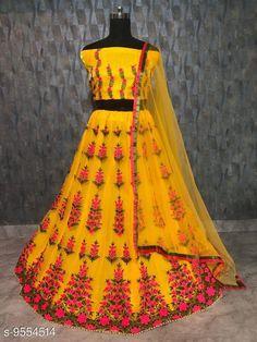 Lehengas Women's Lehenga Choli Topwear Fabric: Silk Bottomwear Fabric: Net Dupatta Fabric: Net Set type: Choli And Dupatta Top Print or Pattern Type: Embroidered Bottom Print or Pattern Type: Embroidered Dupatta Print or Pattern Type: Solid Sizes:  Semi Stitched (Lehenga Waist Size: 44 in Lehenga Length Size: 42 in Duppatta Length Size: 2.4 m) Country of Origin: India Sizes Available: Un Stitched, Free Size, Semi Stitched   Catalog Rating: ★4.4 (533)  Catalog Name: Free Mask Charvi Attractive Women Lehenga CatalogID_1685354 C74-SC1005 Code: 317-9554514-5481