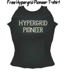 Must get a Hypergrid Pioneer Tshirt  at Kitely Market