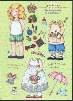 Mary Engelbreit Magazine Paper Doll Goldilocks Summer Camp SIS's Wedding Uncut | eBay