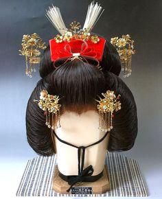 Japanese Swinging Kanzashi Ornamental Hairpin Comb Set Geisha Maiko Kimono 2   eBay