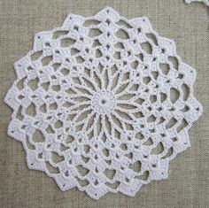 Crocheted appliques doilies round and square by CozyKnittings
