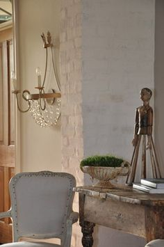 Lovely wall light. Simple yet so pretty  Sorry unknown source. Suggestions welcome