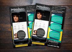 Responsive Website Promotion Flyer by flyernerds on Creative Market