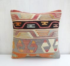 Rustic Pastel Pillow Cover Ethnic Bohemian by PillowTalkOnEtsy, $49.00