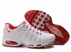 promo code 83efc 847c4 Nike Air Max 95 Mens In Red Gray Nike Shox Shoes, Nike Shoes Cheap,