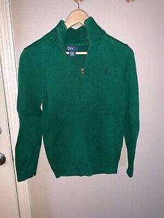 New $125 Polo Ralph Lauren Pony Women Shetland Wool Cardigan Sweater L