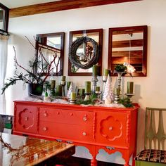 my honorary mom Sara has a pink one like this... buffet (sideboard) inspiration