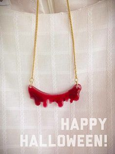 Blood Necklace by rhinestic