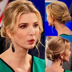 Ivanka at the second Presidential debate- I VOTE YES TO HER HAIR!