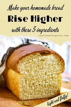 Ready to help your bread rise into high billowy loaves like the gorgeous loaves on Restless Chipotle? What's the secret? Let's talk about it! Best Homemade Bread Recipe, Quick Bread Recipes, Cooking Recipes, Bread Improver, Buttermilk Bread, Sourdough Bread, Wheat Pizza Dough, No Rise Bread, Bread Baking