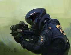 Cyberpunk Character, Cyberpunk Art, Armor Concept, Concept Art, Character Art, Character Design, Sci Fi Armor, Future Soldier, Ideas