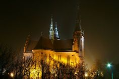Once again, night view of church in Lodz, february mist  #night #architecture  http://fotonoco.blogspot.com/2014/02/i-znow-nocny-widok-na-koscio-sw.html