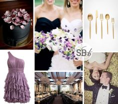Orchid Formal Inspiration Board Pantone Colour of the Year 2014: Radiant Orchid | SouthBound Bride #radiantorchid #2014weddingtrends #pantone