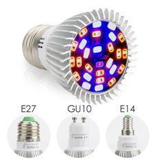 Ampoule Lampe de Croissance Eclairage Lumi/ère De Plante 24W E27 LED Spectrum Lampe De Croissance De Plantes Lampe Ampoule de Culture pour Jardin 200 Leds